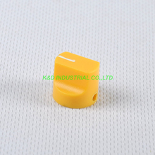 10pcs Colorful Rotary Control Vintage Plastic Yellow Knob 16x15mm for Guitar 6.35mm Shaft Amp Parts