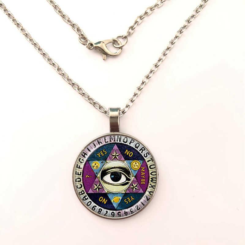 2019 Ouija Board Illuminati Tâm Linh Cọ Đầu Đọc Tinh Thần Đồ Trang Sức Trí Tuệ Mắt Ngôi Sao Năm Cánh Mặt Dây Chuyền vòng cổ Mái Vòm Kính Mặt Dây vòng cổ