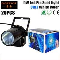 Freeshipping 20pcs Lot 5W White Color Led Pin Spot Light 110V 240V Cree Led Lamp For