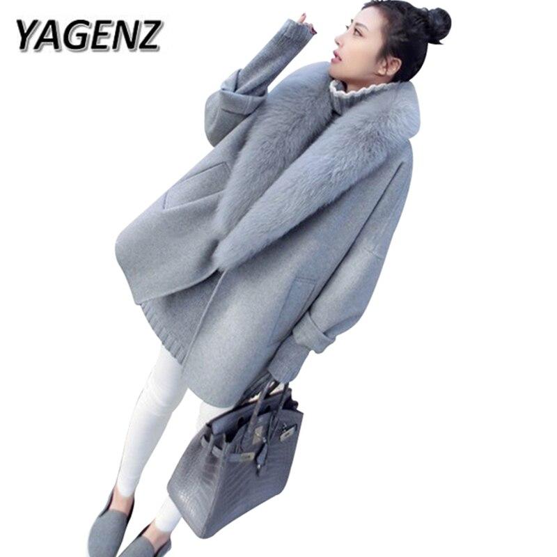 Зимняя шерстяная куртка 2020, короткая кашемировая куртка, женская одежда, тонкая, с лисьим мехом, однотонная, теплая верхняя одежда, повседне