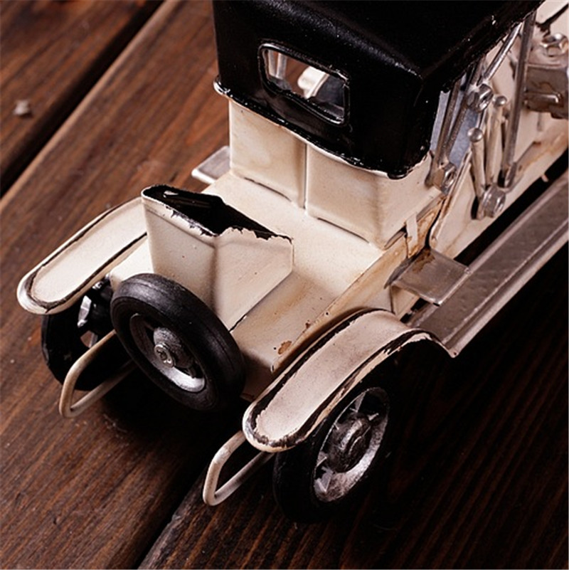 antique mini car metal crafts vintage car decoration for children car kids birthday gift home decoration accessories miniaturas in figurines miniatures