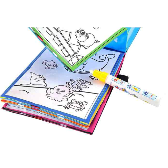 קסם מים ציור ספר צביעת ספר שרבוט קסם עט חיות ציור מתנת צעצוע ילד ילדי ילד זרוק חינם