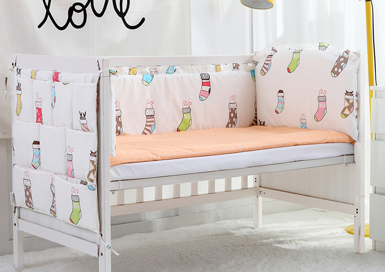 5PCS Cute Baby Bedding Set 100% Cotton Baby Crib Sets Cute Pattern crib bedding set cot sheets cuna crib bumper,(4bumper+sheet) формула здоровья орленок 1а плюс фиолетово желтый