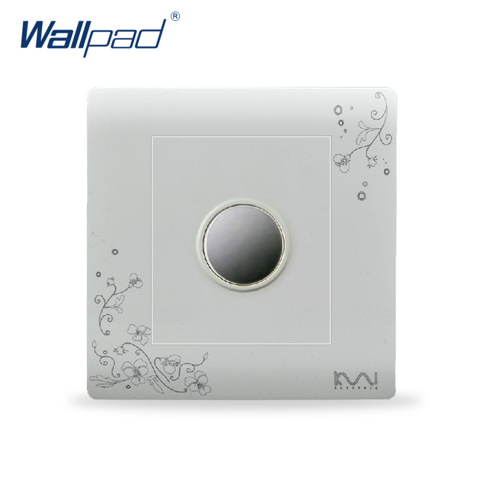2018 Hot Sale Touch Delay Switch Wallpad Luxury Wall Switch Panel Outlet Socket 86*86mm 10A 110~250V atlantic brand double tel socket luxury wall telephone outlet acrylic crystal mirror panel electrical jack