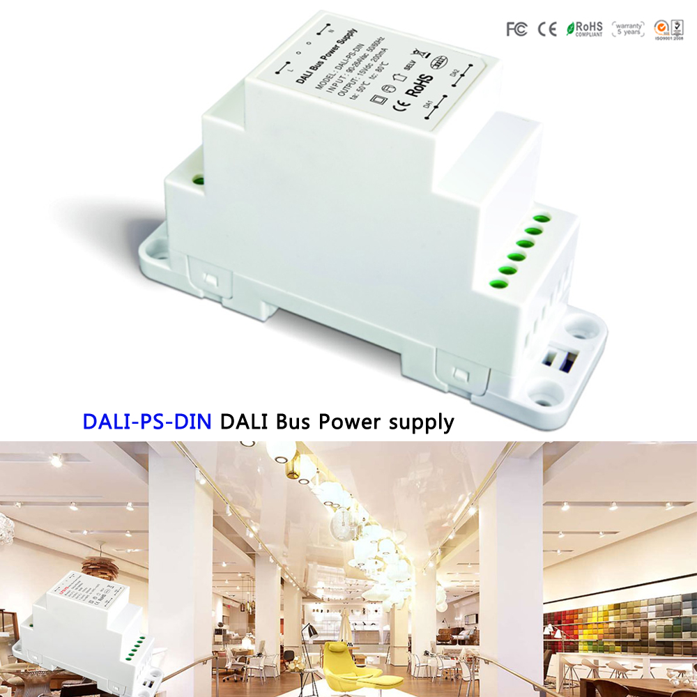 DALI Bus Power supply(DIN Rail) DALI-PS-DIN 100-240VAC 50/60Hz input,15VDC 200MA output DALI Dimming Driver for LED Lights ltech dali ps din dali bus power supply din rail 100 240vac 50 60hz input 15vdc 200ma output dali dimming driver for led lights