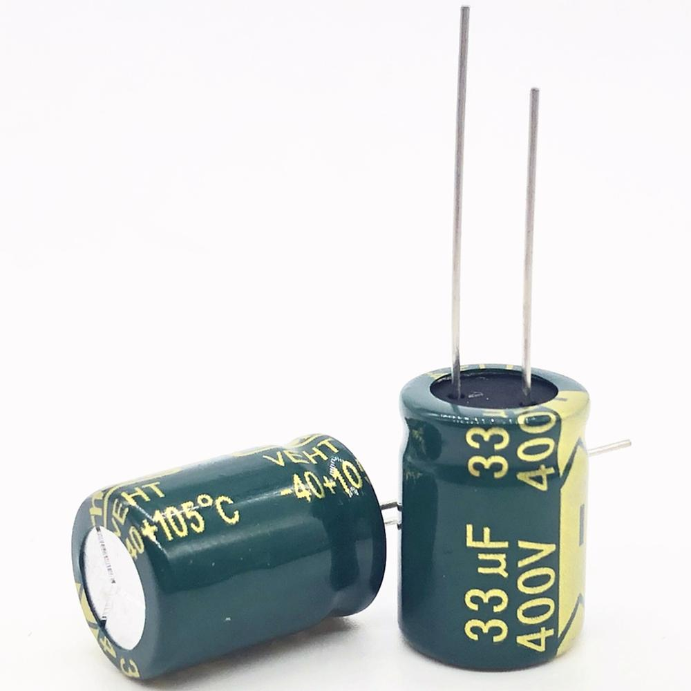 4pcs/lot 400V 33UF High Frequency Low Impedance 13*18 20% RADIAL Aluminum Electrolytic Capacitor 33000NF 20%