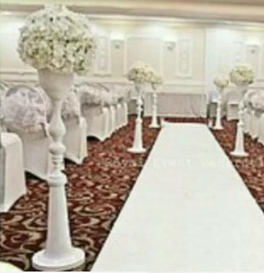 110cm Tall Whole White Metal Aisle Stands Weddings Pillars Wedding Crystal Walkway Flower Stand