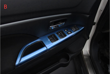 Auto Armrest trim interior moulding trim For mitsubishi ASX 2013 ,stainless steel ,auto accessories