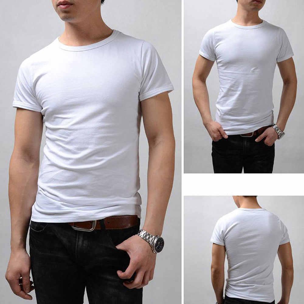 e23c42ee7c1c7 ... Мужские футболки из эластичного хлопка, мужские повседневные футболки, мужская  одежда, повседневные майки с ...
