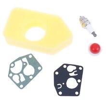 Carburatore a Membrana Guarnizione Del Filtro Dellaria Spark Plug Kit per Briggs Stratton 495770 795083 698369 Parti di Utensili