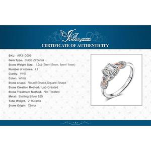 Image 5 - JewelPalace Infinity Celtic Knot Engagement Ring Rose Gold 925 Sterling Silver Rings for Women Wedding Rings Silver 925 Jewelry