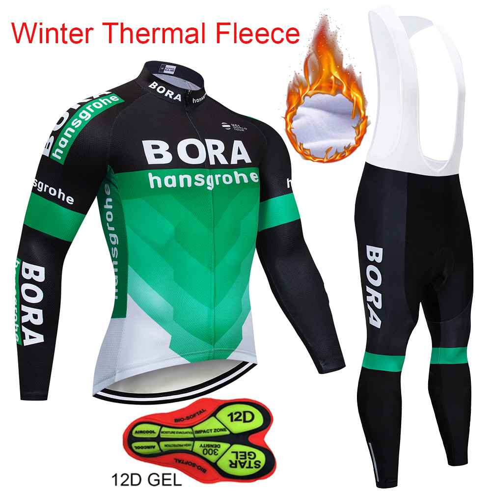 New BORA Winter Thermal Fleece Cycling Set Bike Clothes MTB Bicycle Clothing Cycling Jersey Set Maillot Ropa Ciclismo Invierno fualrny 2018 winter fleeced thermal cycling clothing set racing bike sportswear maillot ropa ciclismo invierno bicycle jersey