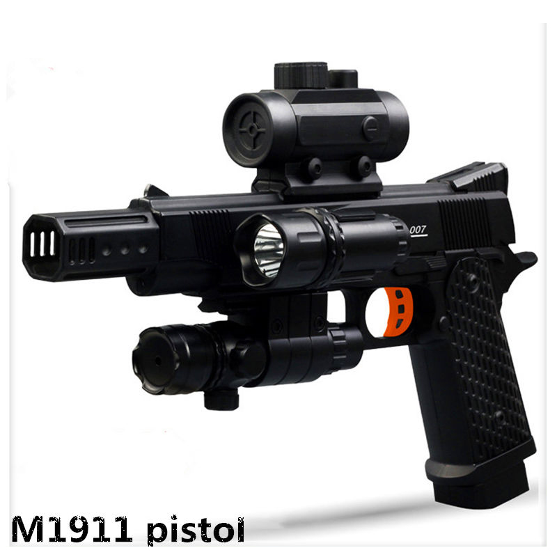 M1911 Electronic font b Toy b font Gun ABS Crystal Bullet Airgun Soft Water Paintball Pistol