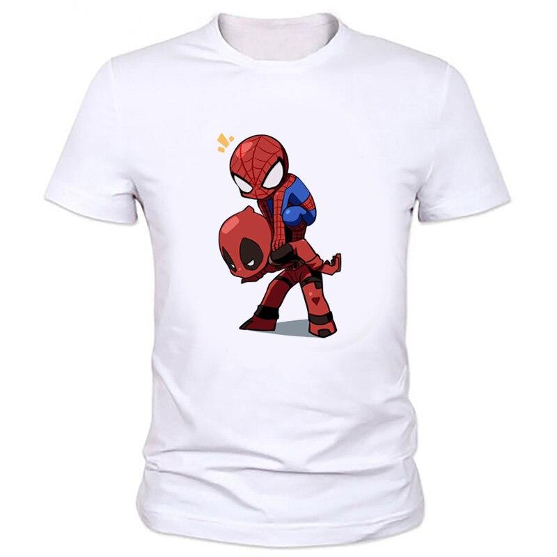 MOE CERF 2019 Clothing Deadpool Boys T Shirt Boys 3D T-Shirt Children Hip Hop T Shirt Spiderman Clothes Factory outlets W-163# uniqlo kaws 2019