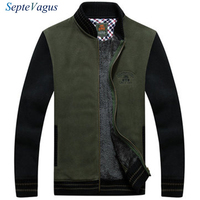Famous Brand MAN Business JACKET Stand Collar Coat Thickened Warm Army Green Jacket With Zipper Casual