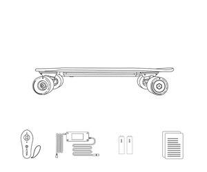 Image 5 - Xiaomi acton skate elétrico de controle remoto sem fio inteligente conduziu a luz 12 km resistência 100 ~ 240 v para 16 a 50 anos de idade