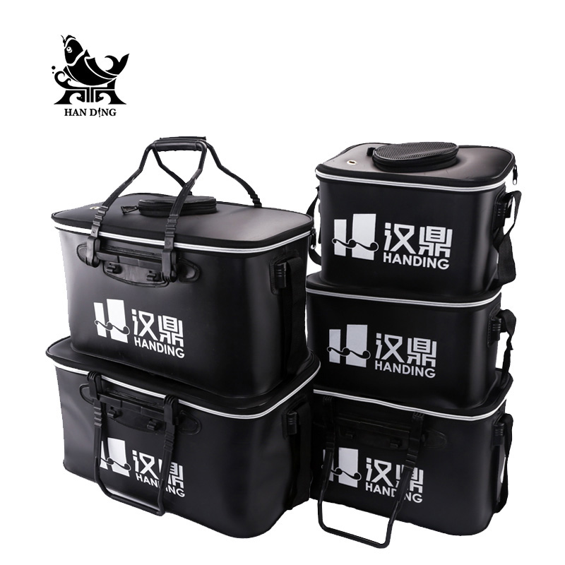 DOAO Outdoor Portable Round Bucket Shrink Round Waterproof Fishing Bucket Fishing Accessories Fishing Tools Live Fish
