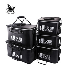 Handing Outdoor Portable Round fishing Bucket Live Fish BOX sea waterproof Bucket Fishing accessories Fishing tools