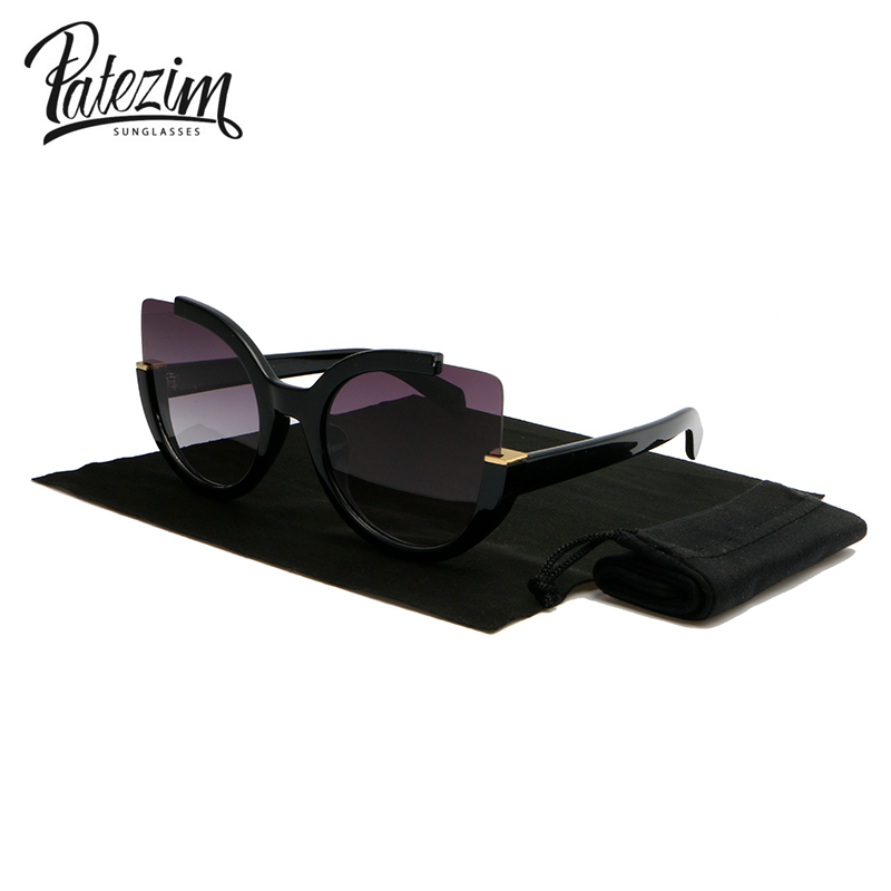 Patezim Women Cat Eye Sunglasses Ladies Vintage Fashionable Driving Goggles Sun Glasses For Women UV400 lens gafas de sol 5