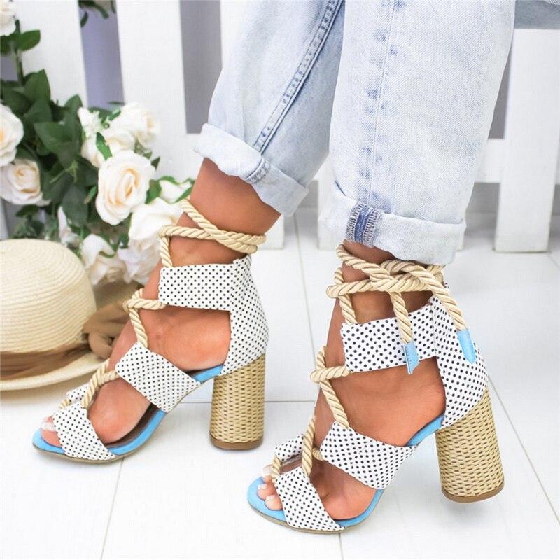 HTB1yY0ocwKG3KVjSZFLq6yMvXXaX Laamei 2019 New  Espadrilles Women Sandals Heel Pointed Fish Mouth Fashion Sandals Hemp Rope Lace Up Platform Sandal