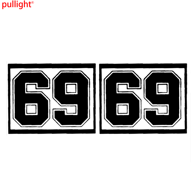 2x custom race car door number stickers large vinyl decal