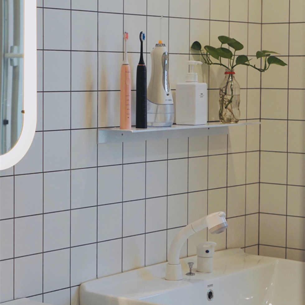 Space aluminium Black łazienka półki na ścianę półka półka kuchenna koszyk prysznicowy szampon przechowywanie 30-60cm