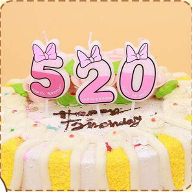 1pc Cute Boys Girls Happy Birthday Candle Design 0 9 Anniversary Cake Numbers Age Baby