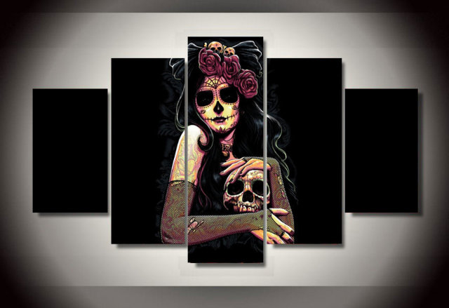 aliexpress : buy no framed printed day of the dead face group