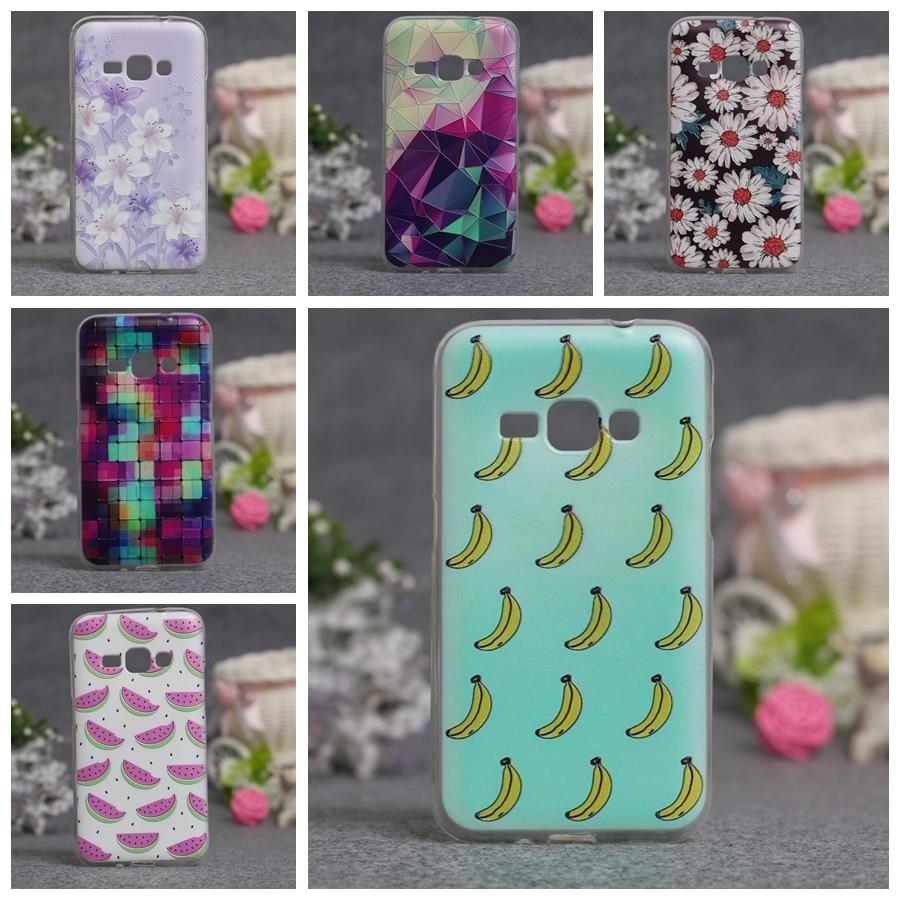 Abstract Flower Painting Soft Silicone Capa Case For Samsung Galaxy J1(6) J120 J120F J1 2016 SM-J120F Cartoon Fundas Phone Cases