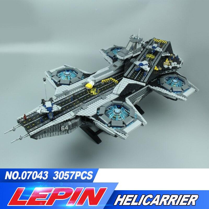 Lepin 07043 Super Heroes The Shield Helicarrier Model Building Kits Blocks Bricks Toys Compatible font b