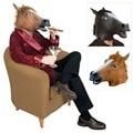 Halloween Props Creepy Unicorn Cavalo Cabeça de Animal Máscara De Látex Máscaras de Teatro Prank Traje PY2