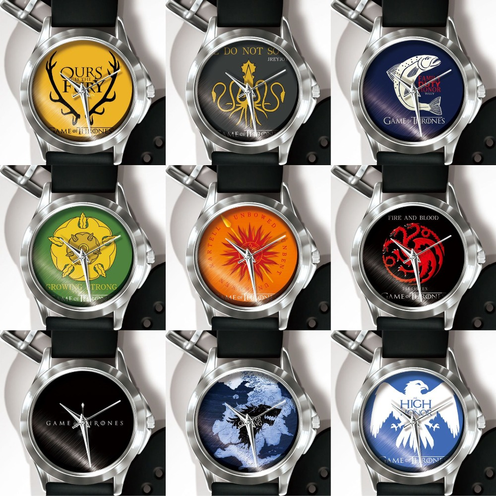 Game Of The Rights Nine Families Emblems Memorial Watch IP Electroplating Women Mens Watches in Quartz Watches from Watches