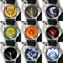 Game Of The Rights Nine Families Emblems Memorial Watch IP Electroplating Women Mens Watches