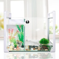 Рыбная черепаха поликультура Танк Черепаха танк с сушильной платформой черепаха специальный цилиндр маленький двойного назначения стекля