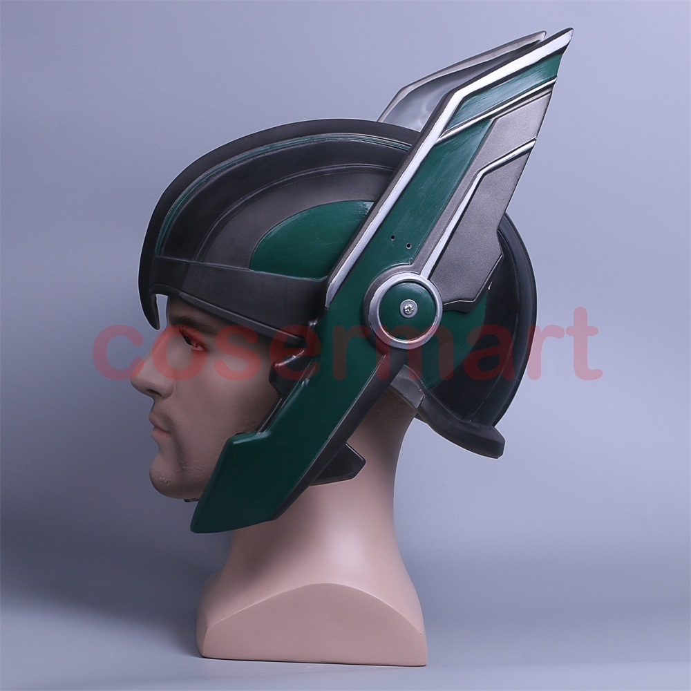 2017 Thor 3 Ragnarok Helmet Cosplay Thor Helmet PVC Mask Handmade Halloween Mask Caps New (5)