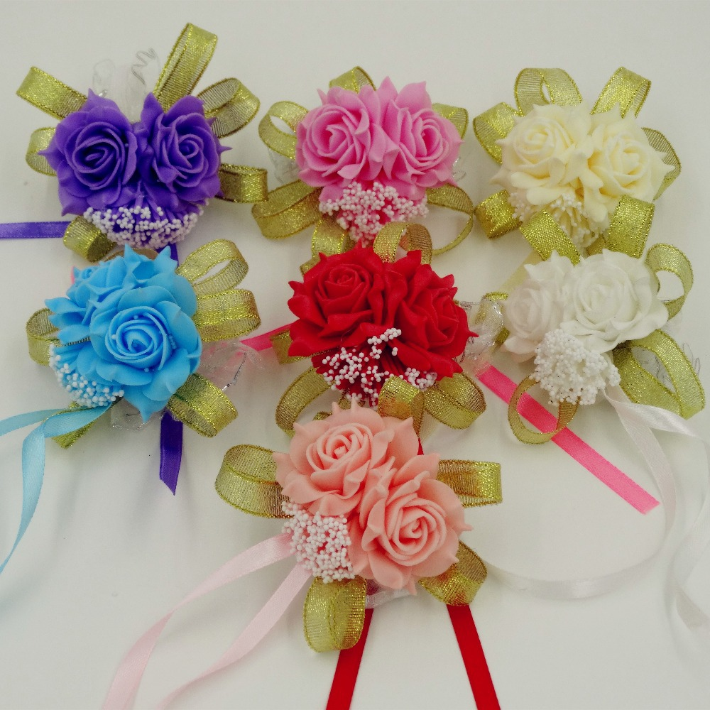 corsage pink promotionshop for promotional corsage pink on, Natural flower