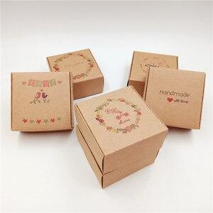 Image 3 - 20 stücke Kraft Papier Karton Lagerung Boxen Mit Fenster Geschenke Box Für Produkte/Begünstigt Geschenke Verpackung Box Beliebten Boxen