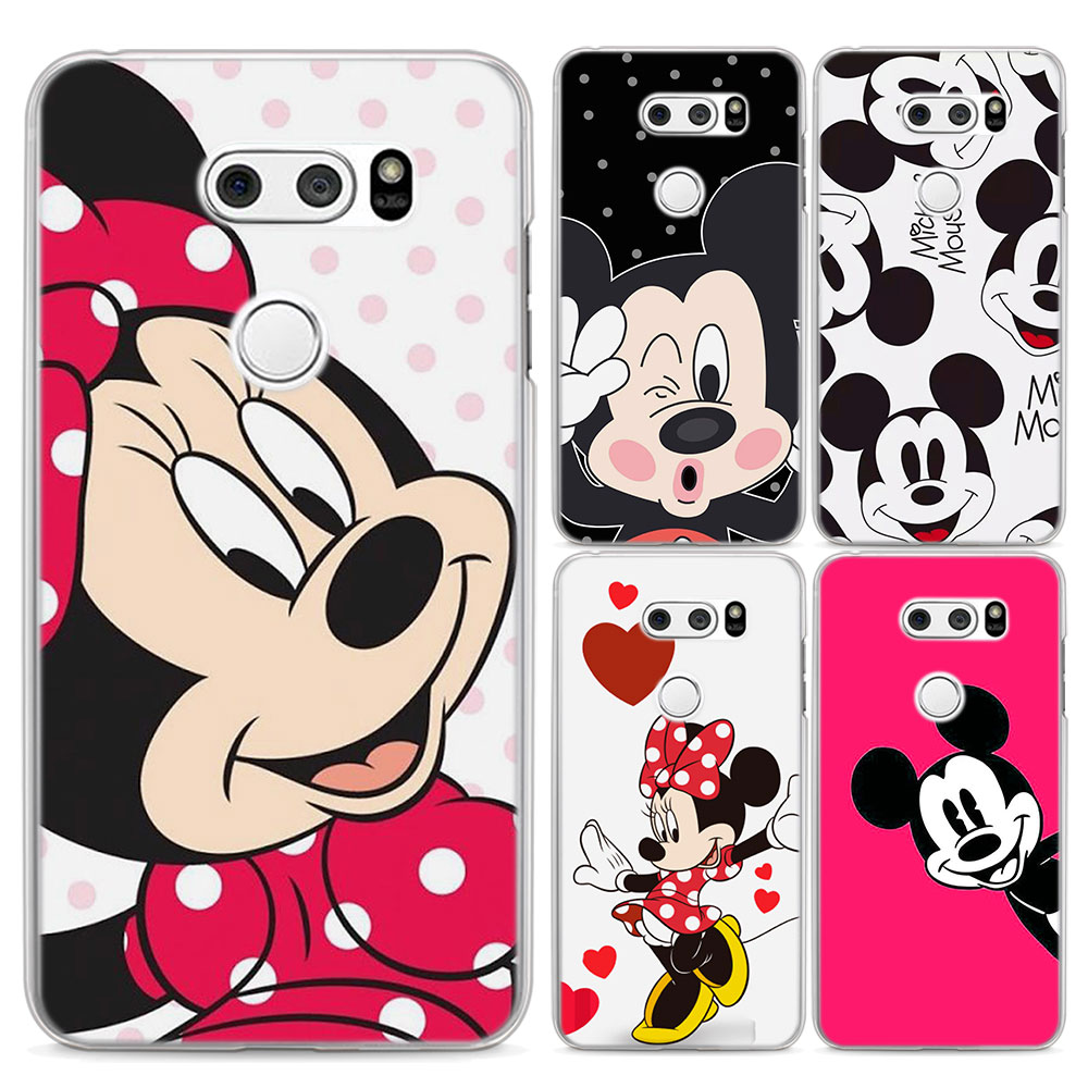 for LG G6 case mickey Minnie Mouse Cartoon Style clear frame hard back Case cover for LG G3 G4 G5 G6 Q6(G6 Mini) V10 V20 V30