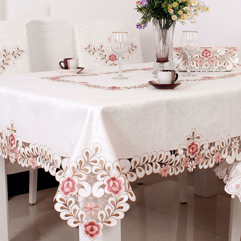 Dining Table Cloth Embroidered Hollow