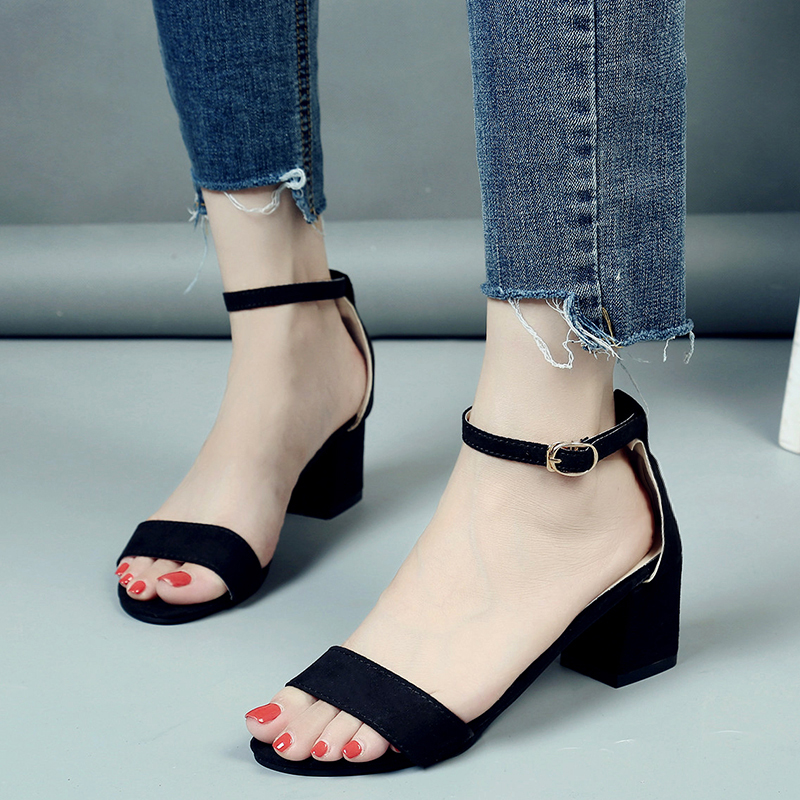 Women Sandals Suede Leather Gladiator Cover Big Size Woman Shoes Ladies Casual Fashion Sandals Square Heel 2018 Summer shoes 32 43 big size summer woman platform sandals fashion women soft leather casual silver gold gladiator wedges women shoes h19