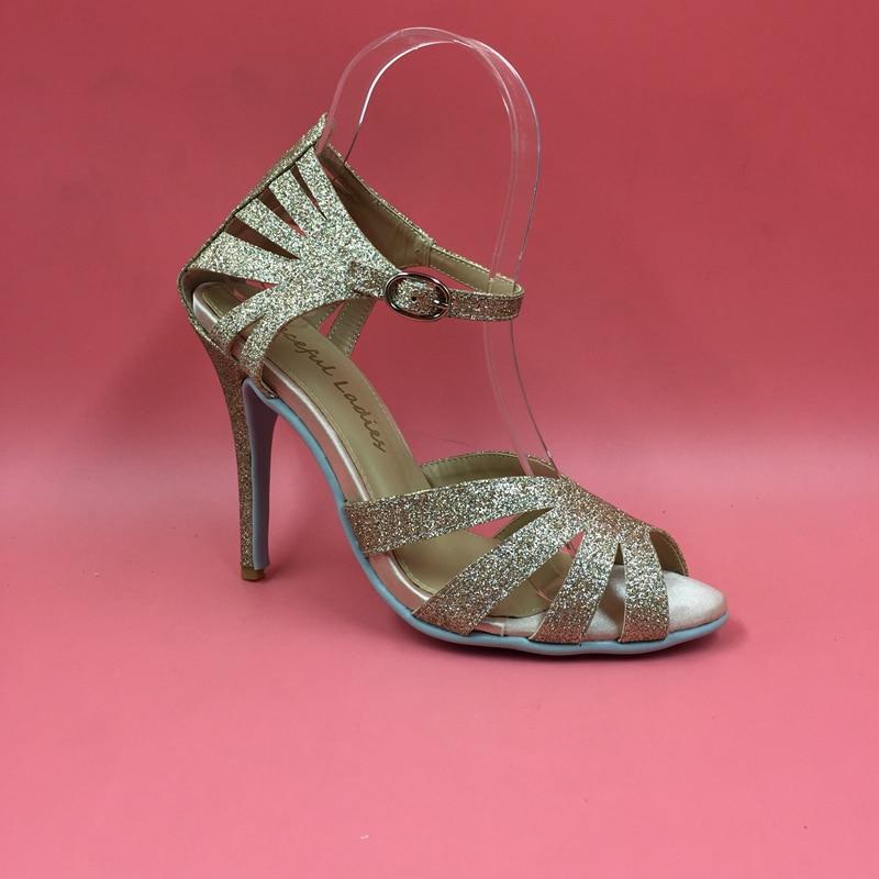 Grande Bracelet Croix Wrap Noce 10 Chaussures Hauts Glitter De Or Femmes Danse Mariée Talons Stilettos Taille Sandales wYn1qC7