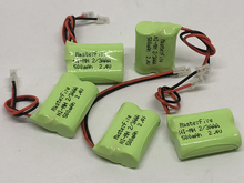 6PACK/LOT Brand New Ni-MH 2/3AAA 2.4V 500mAh 2/3 AAA Rechargeable Battery Cordless Phone Batteries Pack With Plugs