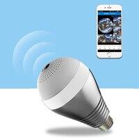 220V E27 LED Bulb WIFI 3W FishEye Surveillance Light 360 Degree Panoramic Monitoring Camera 2 0MP
