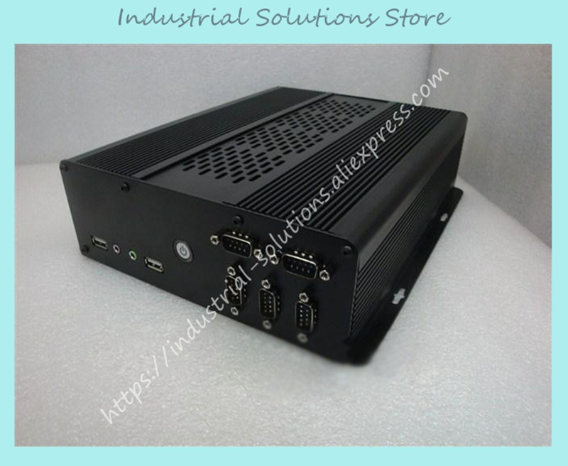 New Mini Itx Motherboard Small Computer Case Serial Aluminum Car HTPC Ion E350 Small Host Box new fan e i5 aluminum htpc computer case e350 h61 hd perfect match i3 i7 e i5