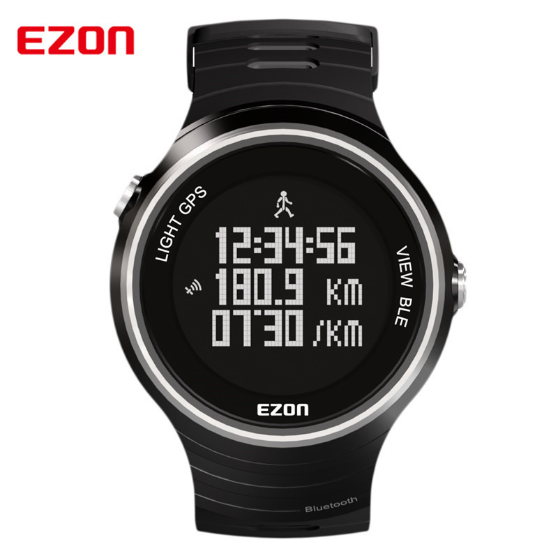 Relogio Masculino EZON GPS Watch Men Smart Sports Military Hours Waterproof Bluetooth 4.0 Men Digital Clock Saat for Android IOS ezon outdoor sports for smart gps watches running male multifunctional 5atm waterproof electronic watch g1 black