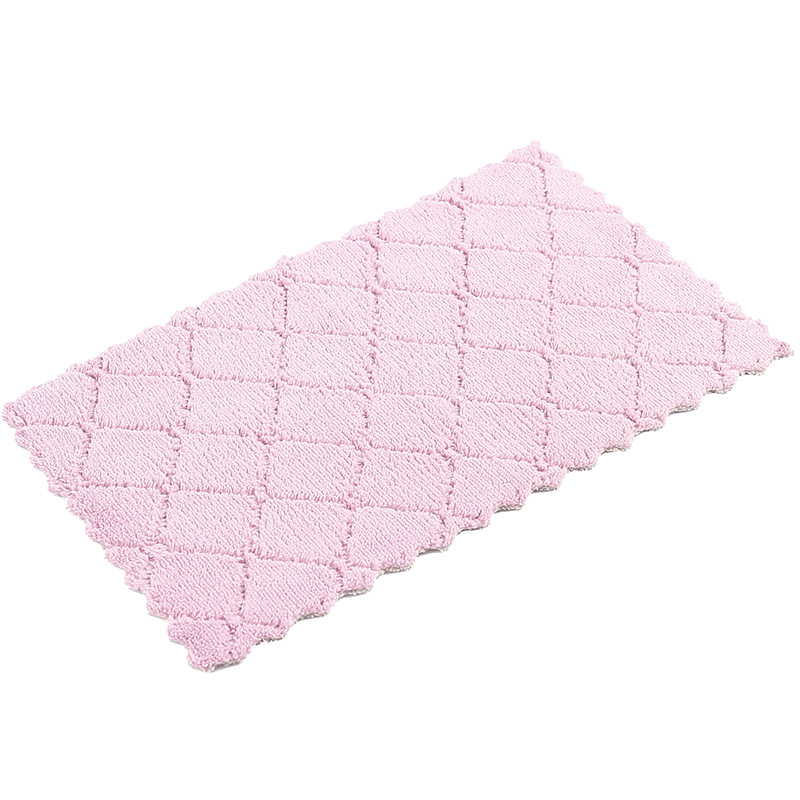 Superfine Fiber Rag Double layer Thick Hanging Strong Absorbent Cleaning Wiping Rags Dish Washing Rag Kitchen