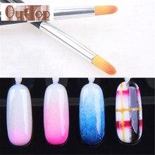 Graceful DIY Handle UV Gel  Nail Art Tip Care Pen Brush pinceis  Manicure Tool Nail Brush NaiL Equipment  FREE SHIPPING SEPT23