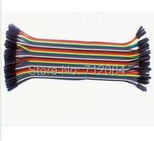 цена на 40PCS/LOT 15CM Dupont Wire Color Jumper Cable 2.54mm 1P-1P Female to Female