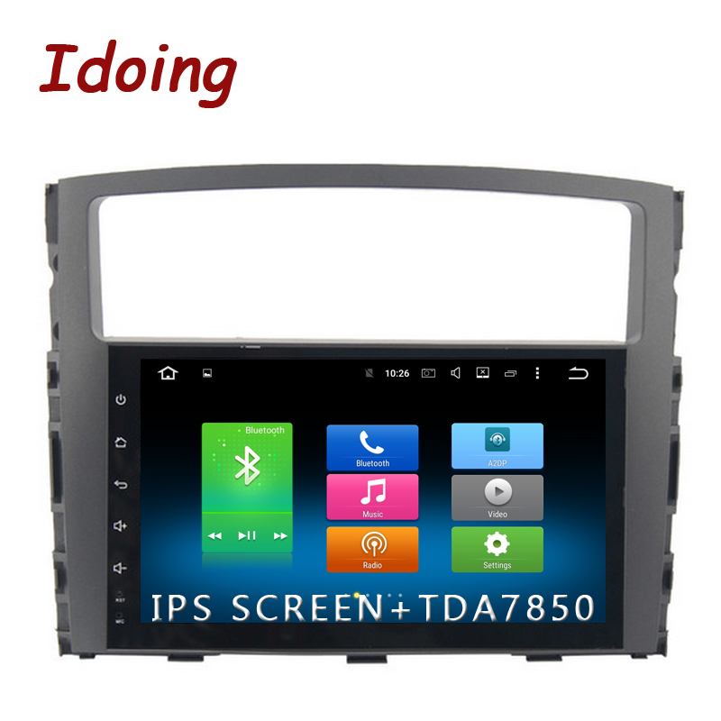 Idoing 1Din 9 дюймов 8 Core ips Экран Android6.0/8,0 автомобилей Мультимедиа Радио Видео плеер подходит MITSUBISHI PAJERO V97 v93 2006-2011