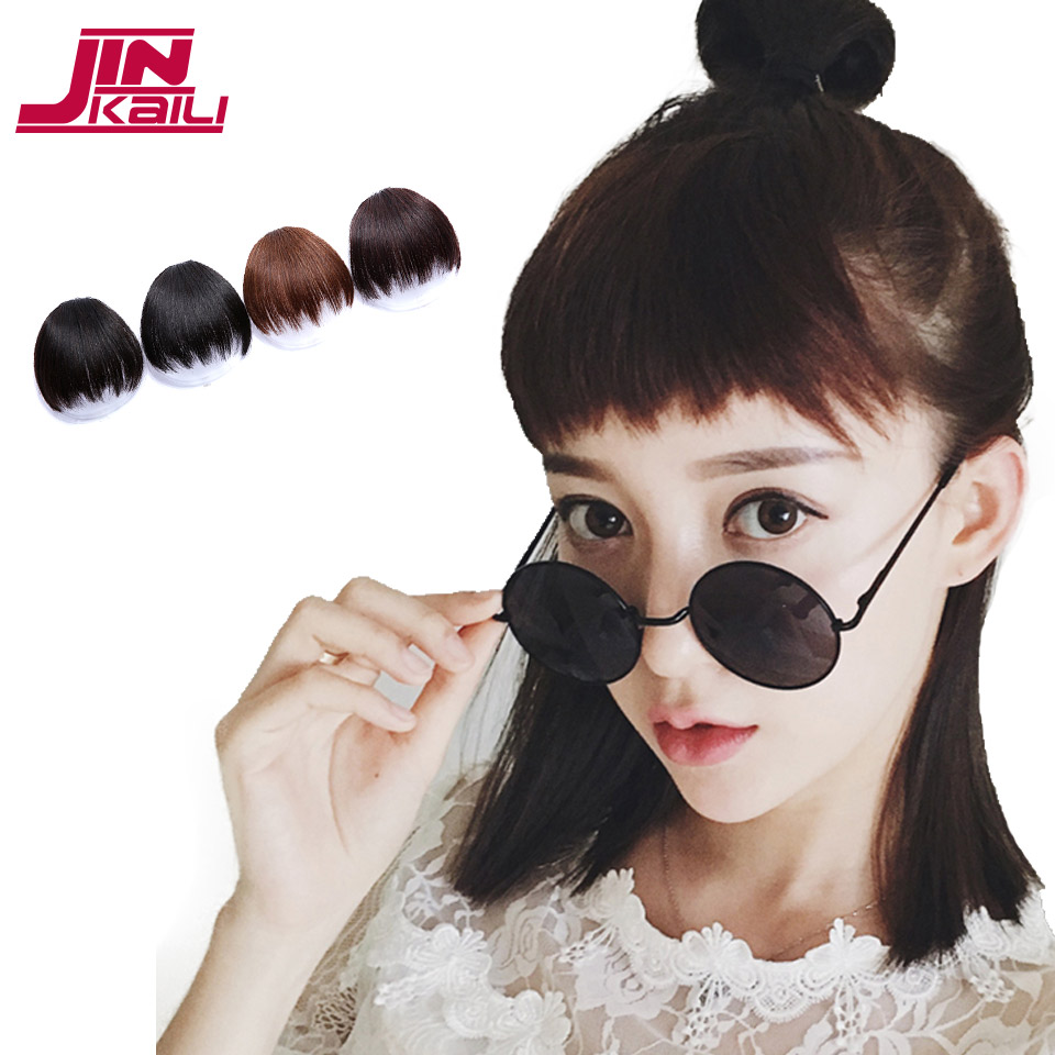Jinkaili Short Fake Hair Bangs Synthetic Hairpieces Clip In Hair